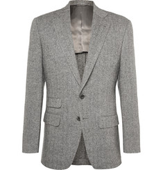 Thom Sweeney Grey Slim-Fit Herringbone Wool Suit Jacket