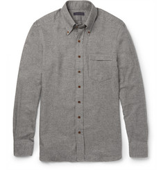 Thom Sweeney Button-Down Collar Cotton-Flannel Shirt