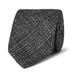 Thom Sweeney 8cm Checked Wool, Silk and Cashmere-Blend Tie