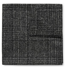 Thom Sweeney Checked Wool, Silk and Cashmere-Blend Pocket Square