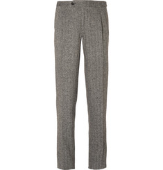 Thom Sweeney - Grey Slim-Fit Herringbone Wool Suit Trousers