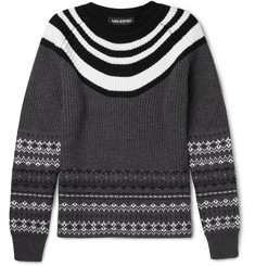 Neil Barrett Fair Isle Wool Sweater