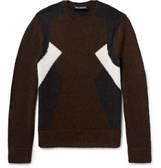 Neil Barrett Panelled Wool and Alpaca-Blend Sweater
