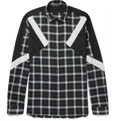 Neil Barrett - Slim-Fit Panelled Checked Cotton-Flannel Shirt