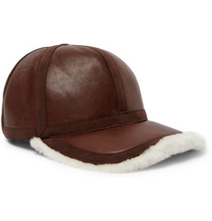 Neil Barrett Shearling-Lined Leather Cap