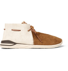 Visvim Huron Leather And Suede Sneakers