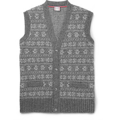 Moncler Gamme Bleu Fair Isle Wool-Blend Sweater Vest