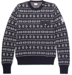 Moncler Gamme Bleu Fair Isle Wool-Blend Sweater