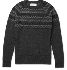 Officine Generale William Fair Isle Alpaca Sweater