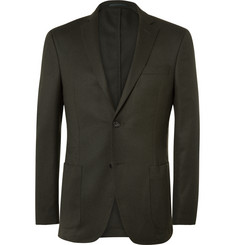 Officine Generale - Green Slim-Fit Wool-Flannel Suit Jacket