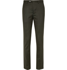 Officine Generale - Green Paul Slim-Fit Wool-Flannel Suit Trousers