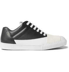 Marni Rubber-Panelled Leather Sneakers