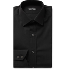 TOM FORD - Black Slim-Fit Cotton-Poplin Shirt
