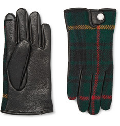 Polo Ralph Lauren Thinsulate?-Lined Leather and Wool and Alpaca-Blend Tech Gloves