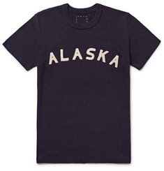 visvim Alaska Appliquéd Cotton-Blend Jersey T-Shirt