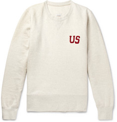 visvim Slim-Fit Appliquéd Loopback Cotton-Blend Jersey Sweatshirt