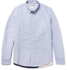 Visvim Lungta Button-Down Collar Flag-Appliquéd Cotton-Oxford Shirt