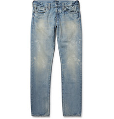 Simon Miller M001 Slim-Fit Tapered Distressed Selvedge Denim Jeans
