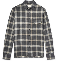 Simon Miller Slim-Fit Bexar Checked Wool-Gauze Shirt