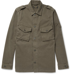 Jean Shop Clinton Herringbone Cotton Overshirt