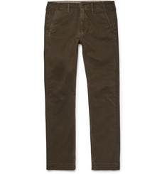 Jean Shop Leon Slim-Fit Cotton-Twill Trousers