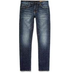 Jean Shop - Jim Skinny-Fit Washed Selvedge Stretch-Denim Jeans