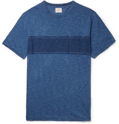 Faherty Slim-Fit Striped Slub Cotton-Jersey T-Shirt