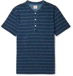 Faherty Striped Slub Cotton-Jersey Henley T-Shirt