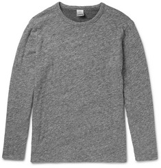 Faherty Reversible Mélange Cotton-Jersey T-Shirt