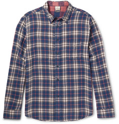 Faherty Reversible Checked Cotton-Flannel Shirt