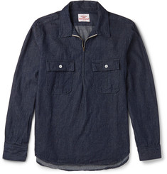Battenwear Garage Denim Zip-Up Shirt