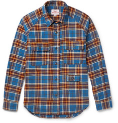 Battenwear Camp Slim-Fit Plaid Cotton-Flannel Shirt