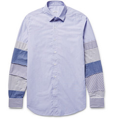 Loewe - Slim-Fit Patchwork Cotton-Poplin Shirt