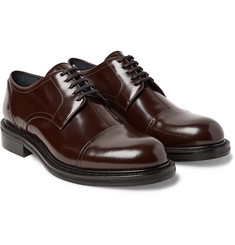 Loewe - Polished-Leather Cap-Toe Derby Shoes
