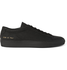 Common Projects Achilles 3D Textured Rubberised-Leather Sneakers