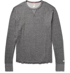 Todd Snyder + Champion - Honeycomb-Knit Mélange Cotton Thermal T-Shirt