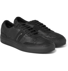 Neil Barrett - Distressed Leather and Suede Sneakers