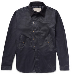 Casely-Hayford Chesterton Corduroy-Trimmed Cotton-Twill Shirt Jacket
