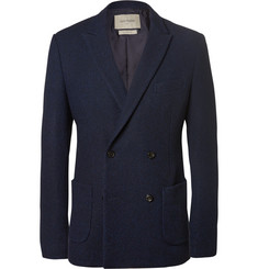 Casely-Hayford Blue Koston Slim-Fit Unstructured Woven Wool-Blend Suit Jacket