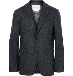 Casely-Hayford - Blue Titus Slim-Fit Unstructured Slub Wool-Blend Suit Jacket