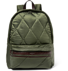 Casely-Hayford Benton Leather-Trimmed Quilted Shell Backpack