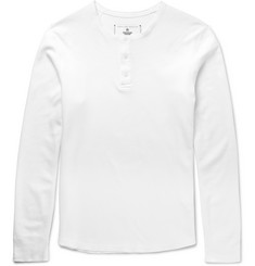 Reigning Champ - Slim-Fit Waffle-Knit Henley T-Shirt