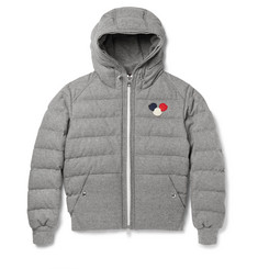 Moncler Asperge Quilted Wool-Blend Hooded Down Jacket