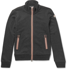 Moncler - Maglia Stripe-Trimmed Cotton Zip-Up Sweatshirt