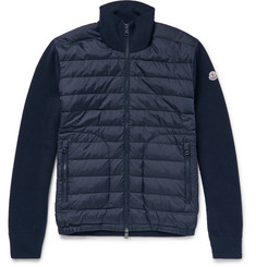 Moncler - Wool-Blend and Quilted Shell Down Jacket
