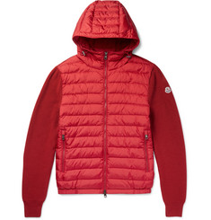 Moncler - Maglione Wool-Blend and Shell Down Jacket