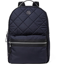 Moncler Gigi Zaino Leather-Trimmed Quilted Nylon Backpack
