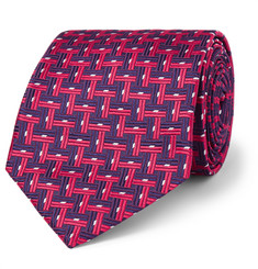 Sulka Basketweave-Effect Silk-Jacquard Tie
