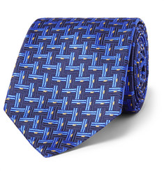 Sulka - Basketweave-Effect Silk-Jacquard Tie