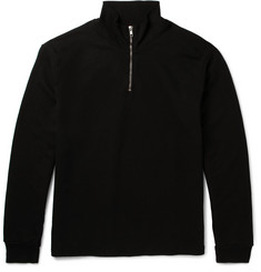 Several Comet Slim-Fit Loopback Cotton-Jersey Half-Zip Sweatshirt